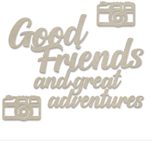 Good Friends Sentiment Chipboard Set