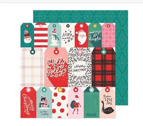 Be Jolly 12x12 paper- Hey Santa