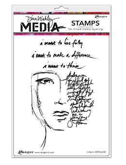 Dina Wakley Media Stamp-I Want