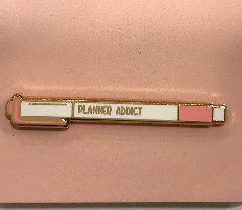 Enamel Pin-Planner Addict Pen