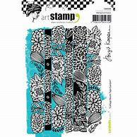 Carabelle Studio Collage washi Tape Garden stamp by Birgit Koopsen