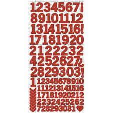 Number Sticker Sheet - Red