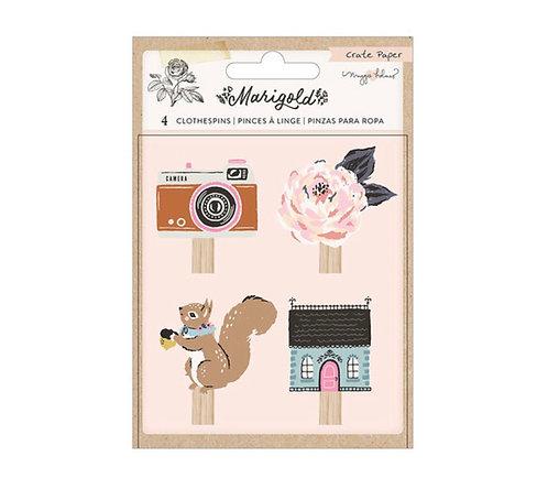 Marigold Embelishment Pins Crate Paper