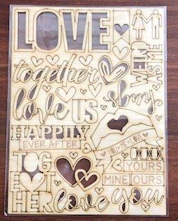 """Happily Ever After"" Wood Veneer"