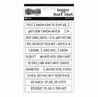 Bigger Back Chat Stickers- Dylusions