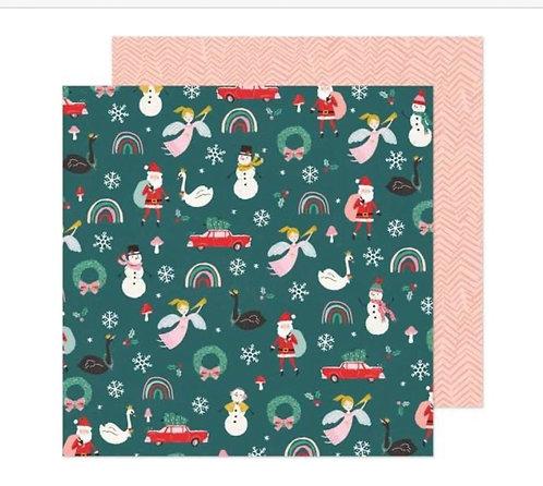 Christmas  Magic 12x12 paper- Hey Santa