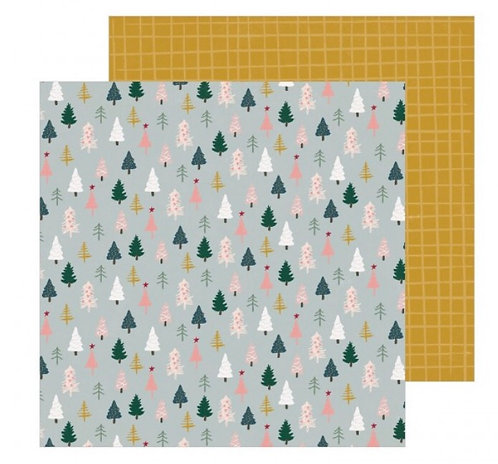 Spruce-Snowflake patterned paper