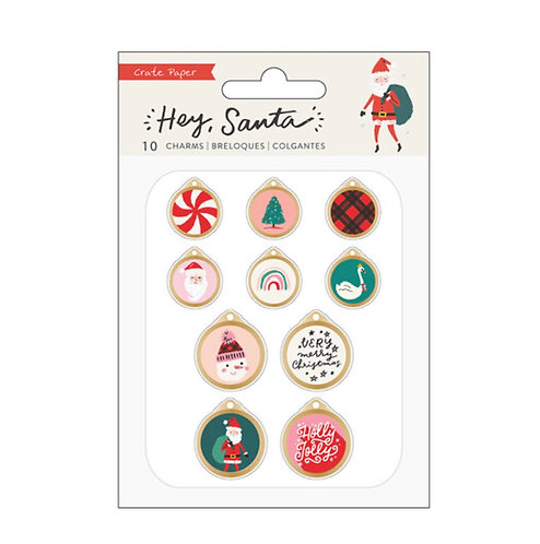 Embellishment Charms Pack Hey Santa- Crate Paper