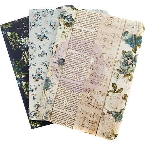 Travelers journal notebook set-Georgia Bluees