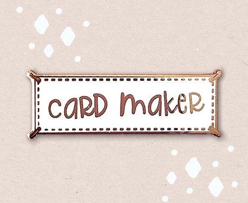 Enamel Pin- Card Maker