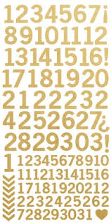 Number Sticker Sheet - MetallicGold
