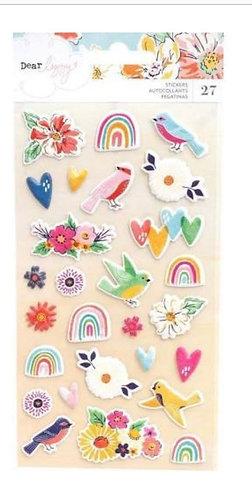 She's magic puffy stickers