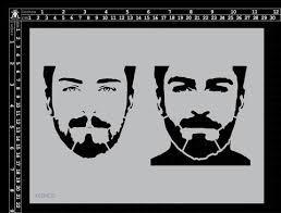 Mens Face Stencil - Kinder Kreations
