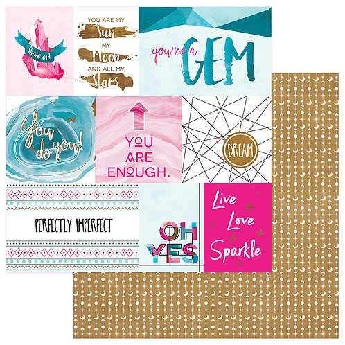 You're A Gem~Sparkle 12x12 Cardstock ~Colorplay