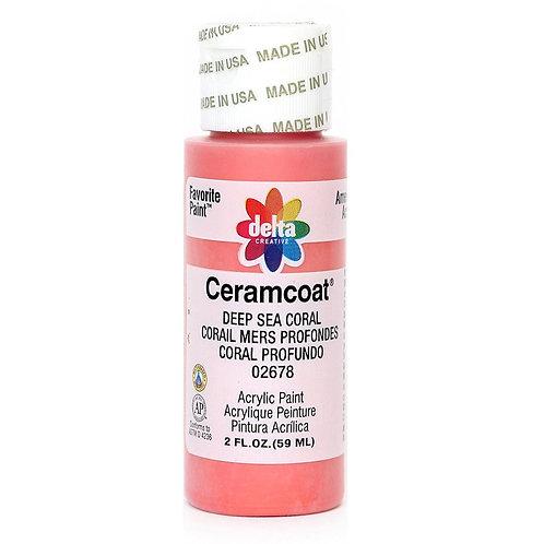 Deep Sea Coral Ceramcoat Paint
