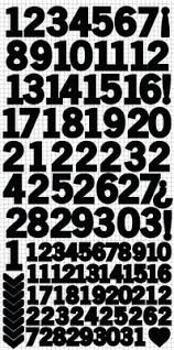 Number Sticker Sheet - Black