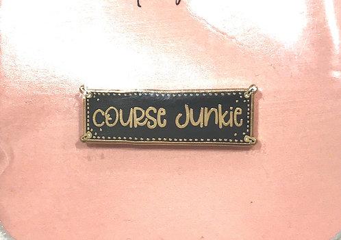 Enamel Pin-Word-course Junkie
