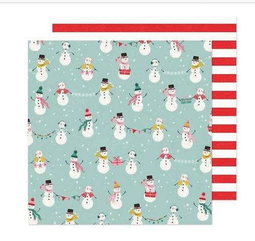 North Pole 12x12 paper- Hey Santa
