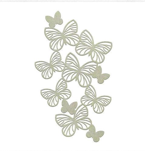 Butterfly Border Chipboard