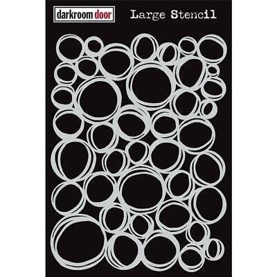 Large 9x12 circles stencil- Darkroom Door