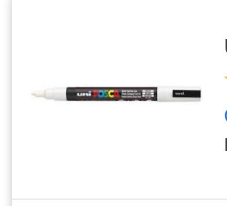 White  Posca Pen-pc3M bullet .9mm-1.3mm