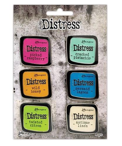 Tim Holtz Distress Enamel Pin 6 pack