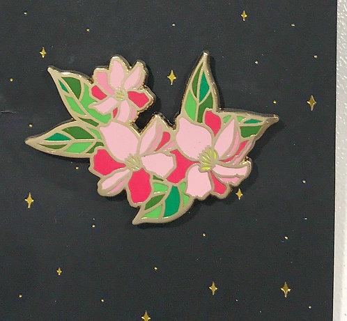 Enamel Pin-flowers -Pink