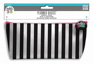 Planner Basics Striped Pencil Case