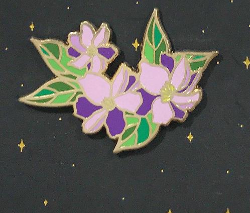 Enamel Pin-flowers -Lavender