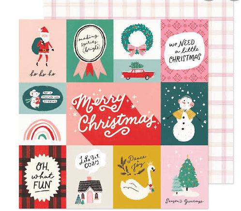 Oh what Fun 12x12 paper- Hey Santa