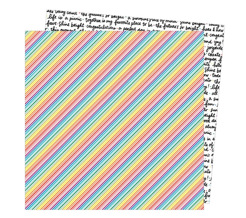 Bright lines 12x12 Double sided patterned paper -Picnic in the park