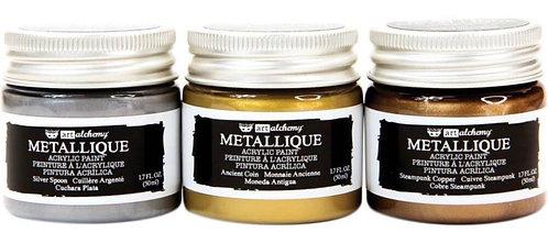3 pack Art Alchemy Acrylic Paint Metallique