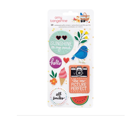 Picnic in the park embossed puffy stickers