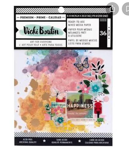 Let's Wander 6x8 mixed media paper