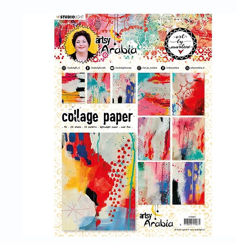 Studio Light Art By Marlene Collage Paper A4 20 Pack - NR. 07, Artsy Arabia