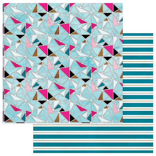 You're A Gem~Multi Geo 12x12 Cardstock ~Colorplay