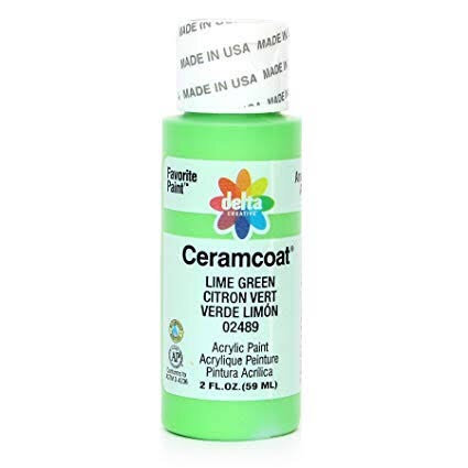 Lime Green Ceramcoat Paint