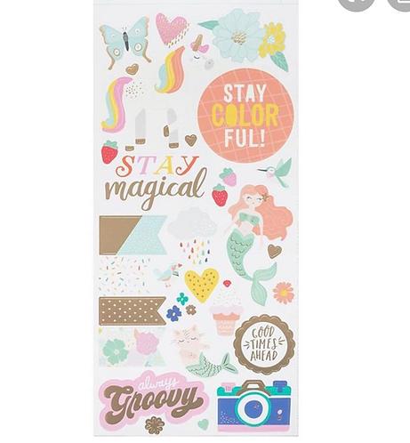 6x12 sticker sheet she's magic