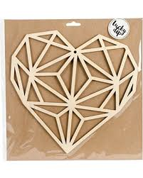 Large Geo Heart wood Flourish -Lucky Dip Kaisercraft
