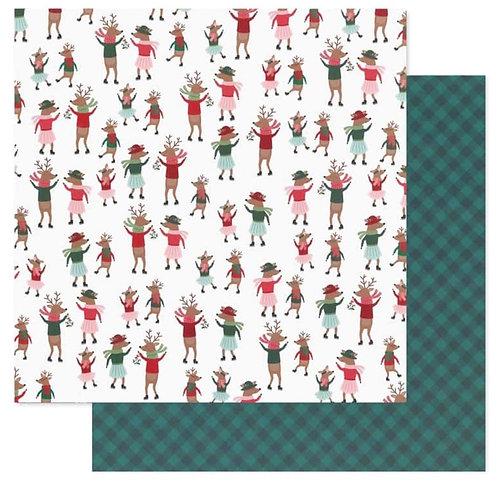 Dancing Reindeer-Merry Little Christmas 12x12 papers