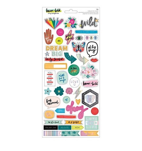 Brave & Bold- Iridescent Foil  Stickers