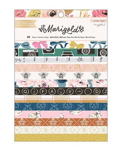 Marigold 6x8 paper pad Crate Paper
