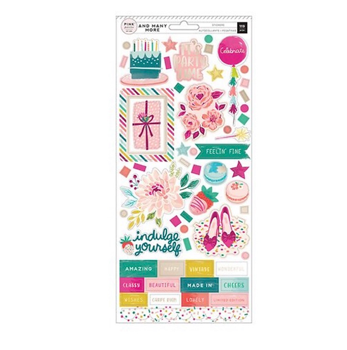 6x12 sticker Sheet -And Many More-Pink Paislee