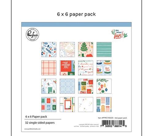 Oh what Fun 6x6  paper pad