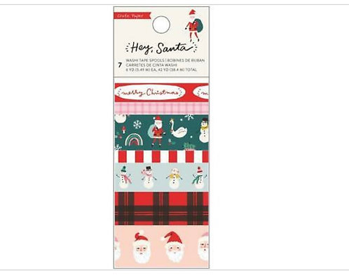 Hey Santa Washi Tape - Crate Paper