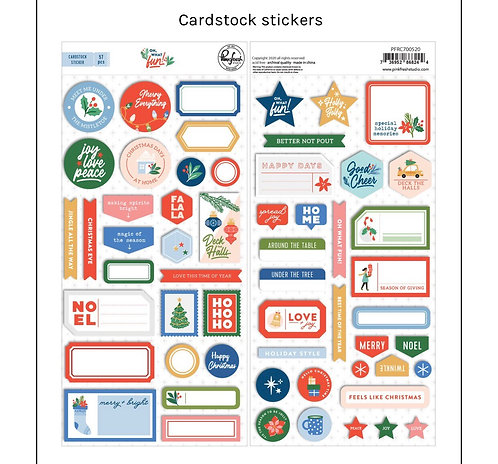 Oh what Fun Cardstock stickers