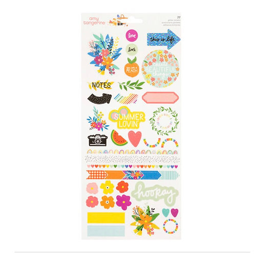 Picnic in the park  6x12  sticker sheet