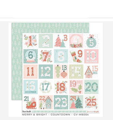 Merry & Bright- Counting Down 12x12 patterned paper