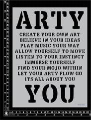Arty You Stencil large - Kinder Kreations