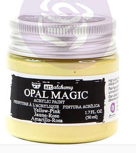 Finnabair Art Alchemy Opal Magic yellow pink Acrylic Paint